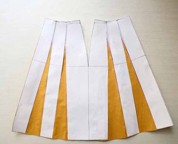 Pattern Design Tutorial - A-line flare skirt drafting