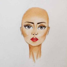 Fashion Illustration - Coloring Fashion Figure Face