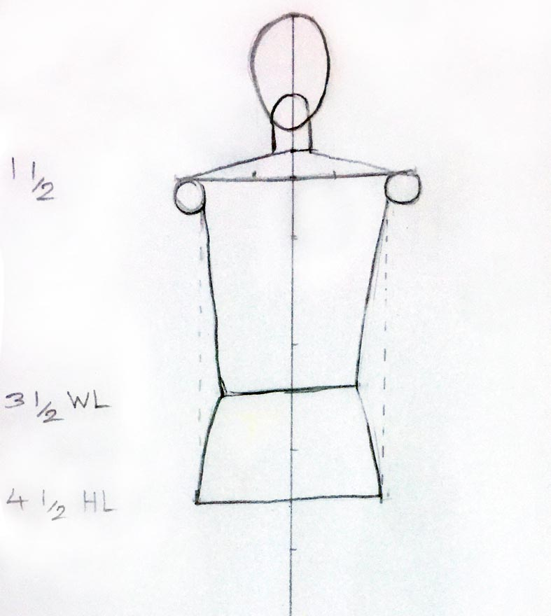 Learn how to draw female back pose for fashion design