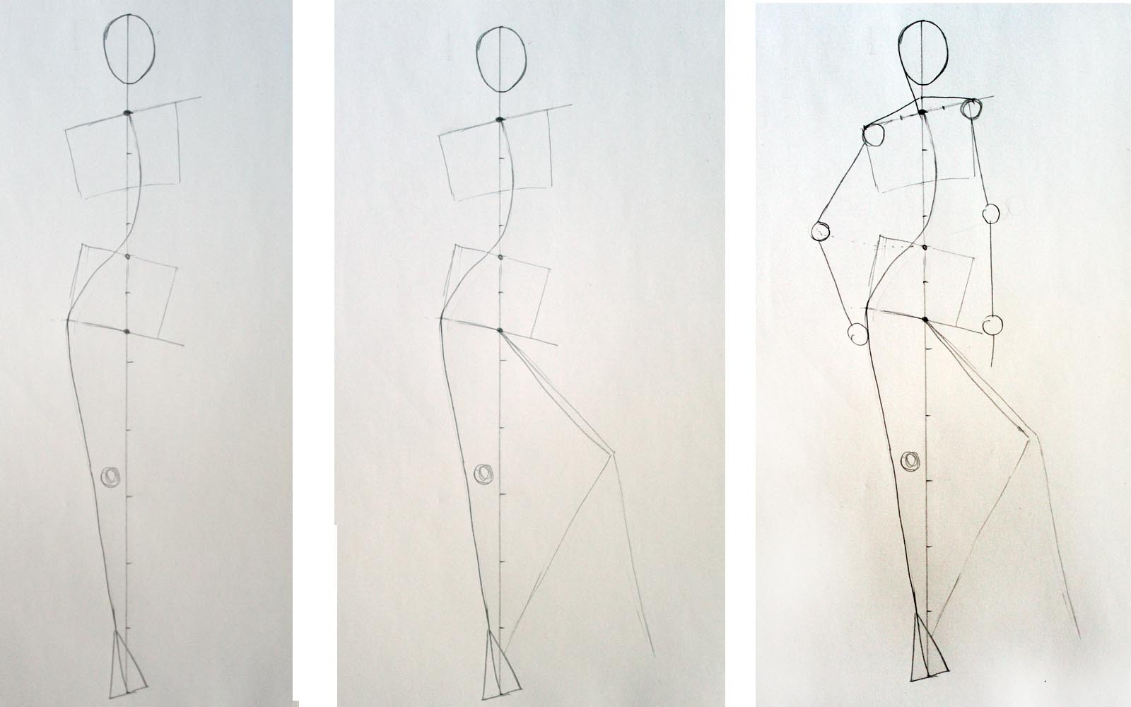 How to draw Relax standing pose in fashion drawing Step 3