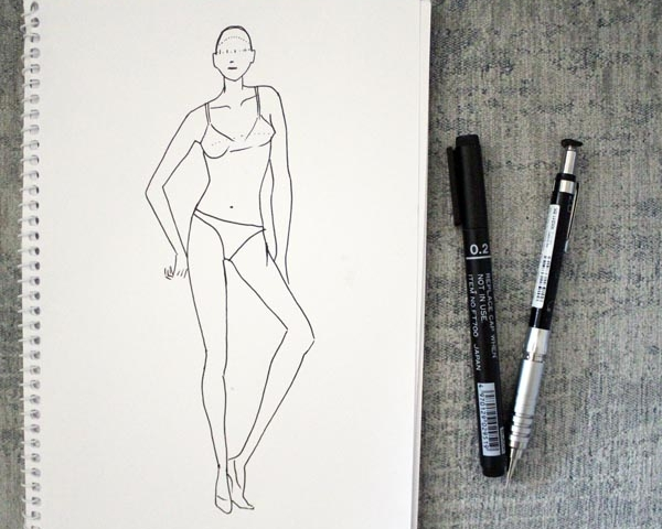 draw female fashion figure