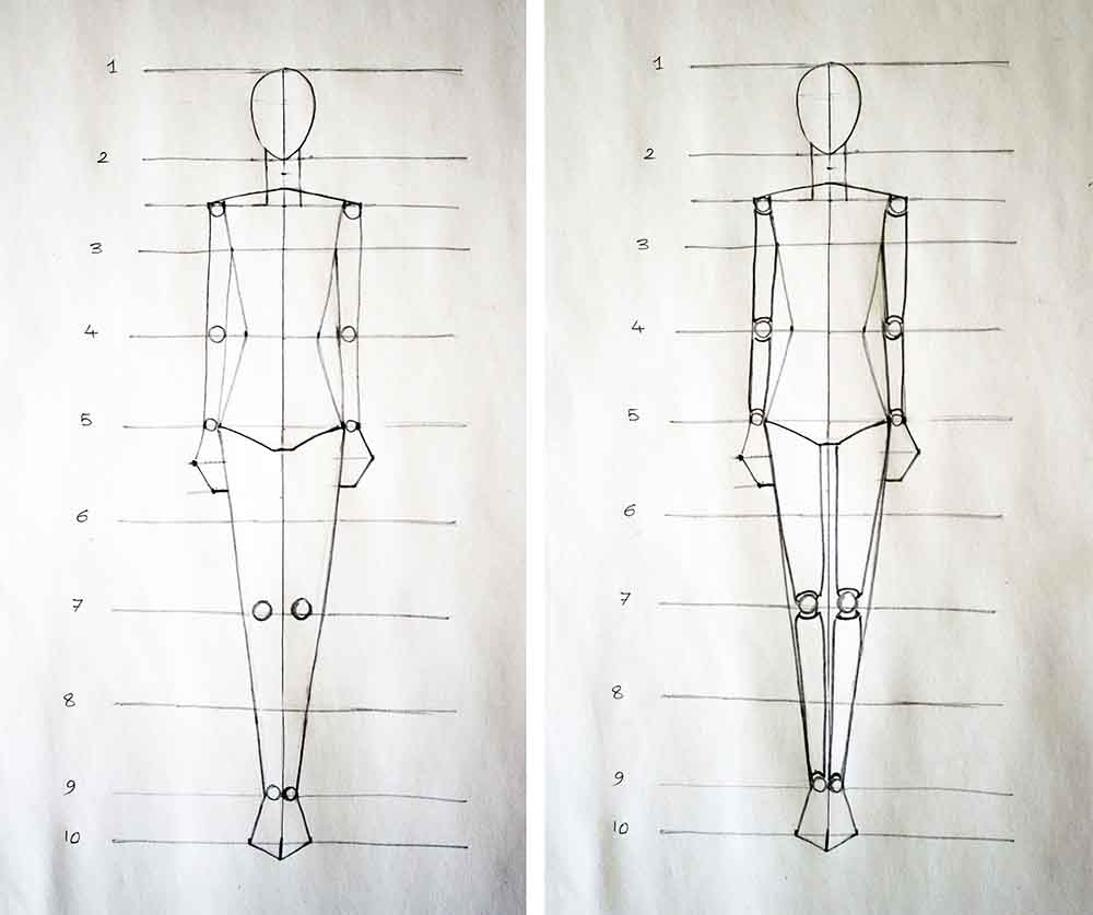 Fashion Figure Design- Fashion Design Tutorial For beginners