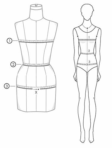 How to take body measurements for skirt