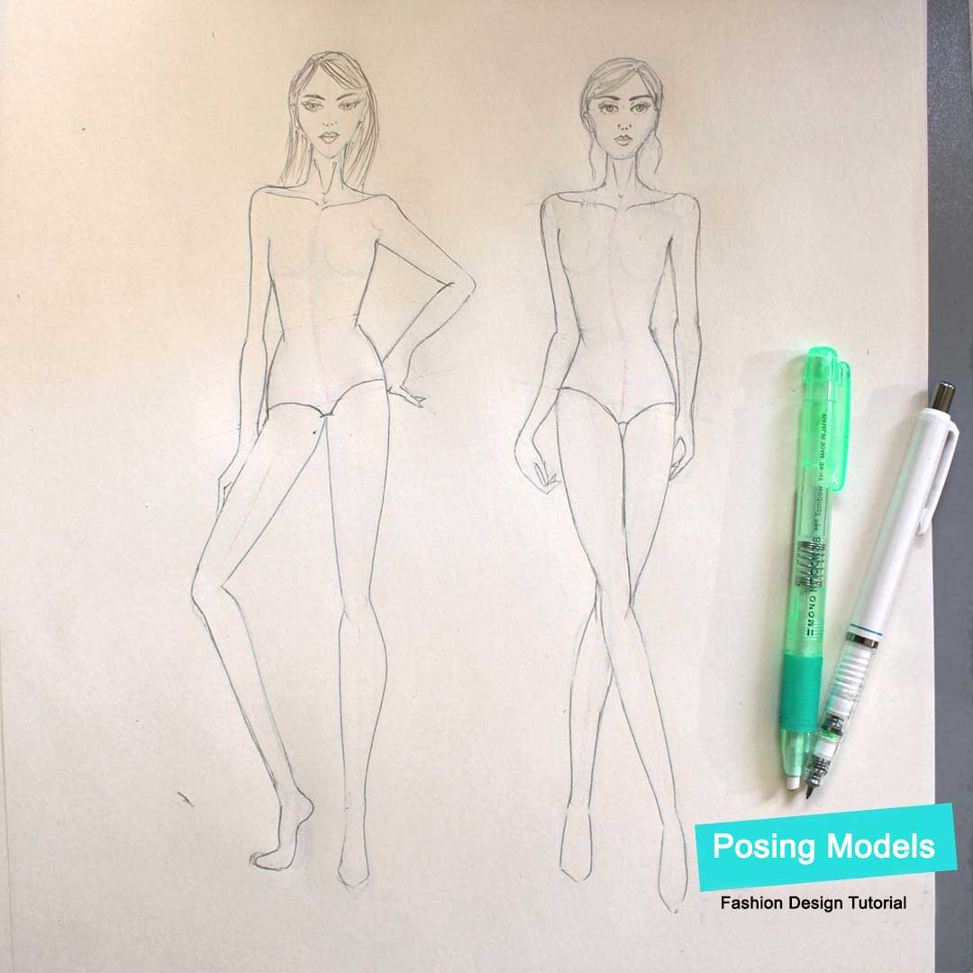 How To Draw Figure Movement And Poses Fashion Design Tutorial