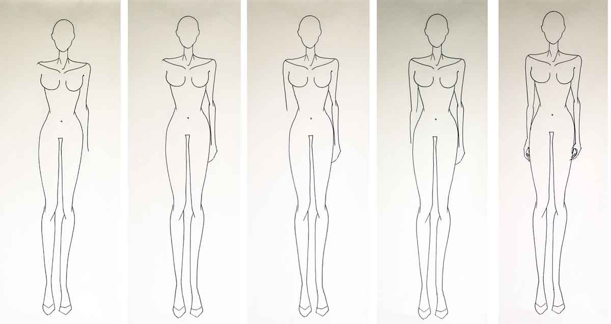 Fashion figure drawing without guidelines - fashion design for beginners - step 3