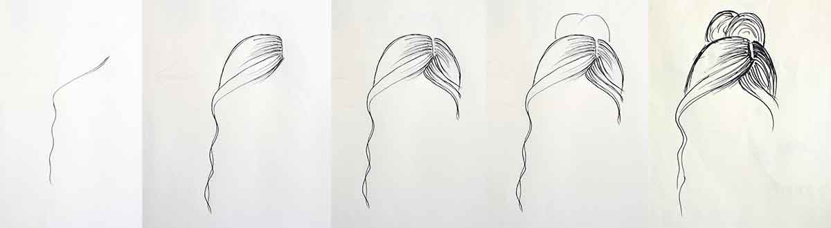 How to draw hair- tutorial for beginners