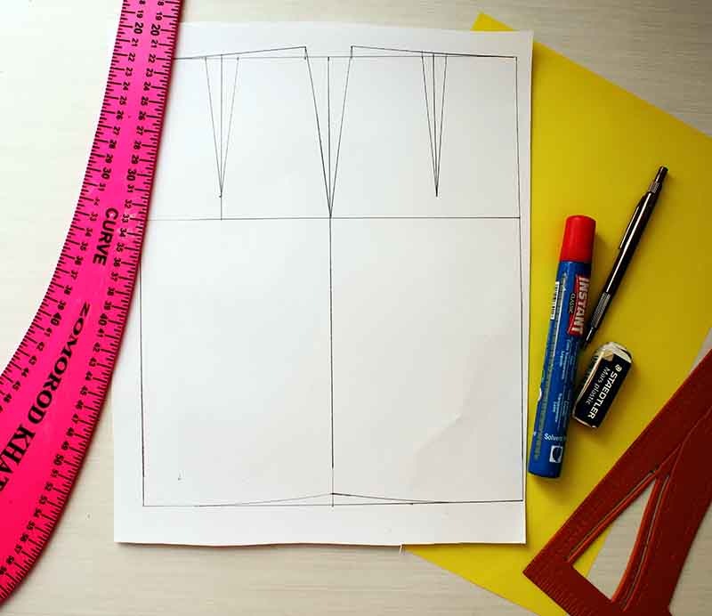 Tools needed for Drafting A-line skirt - Pattern making Tutorial