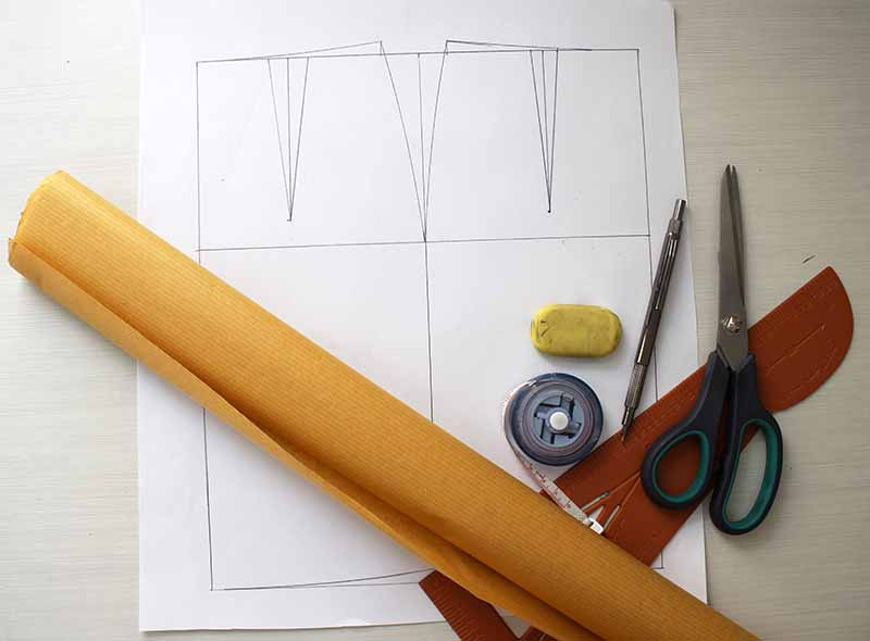 A-line flare skirt pattern design - Pattern making tools
