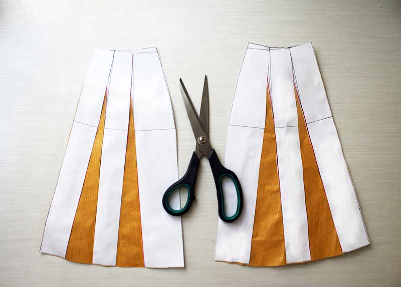 Drafting Basic A-line skirt pattern - Free Tutorial