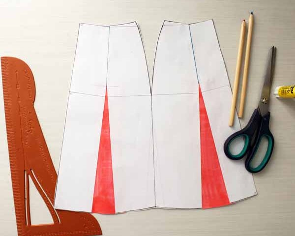 A-line flare skirt pattern design