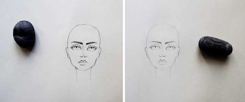 Coloring the face - first step