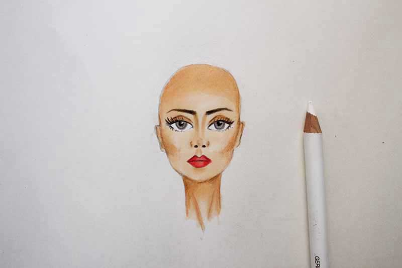 Coloring the face - Final Step