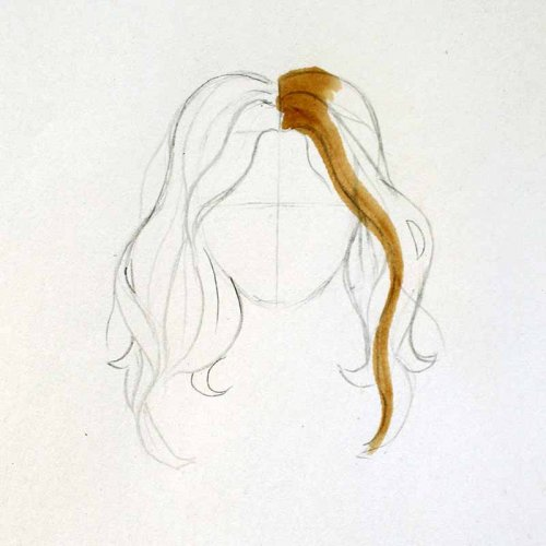 drawing-hair-with-markers-step