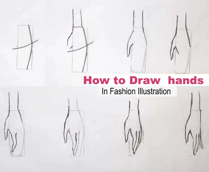 How to draw hand for fashion figure